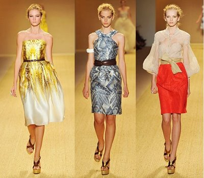 monique lhuillier runway ss2009 pretty dresses